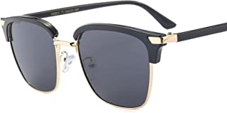 Half-rim polarized sunglasses men and women wear driving sunglasses, glasses, sunglasses