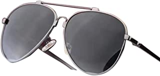 Women's Classic Sunglasses, Polarized Lens, Metal Frame UV400 Sunglasses (Color : Gray)