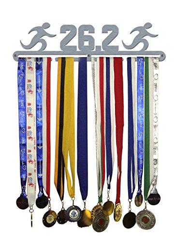 '26,2' Grande Médaille Cintre écran support en acier inoxydable brossé – Fabriquée en Grande-Bretagne