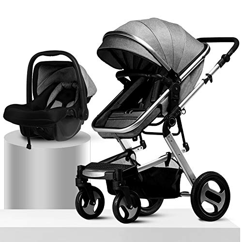 Best Review Of Basket Stroller Portable Folding Travel System Million Forward Wheel Four-Wheel Suspe...