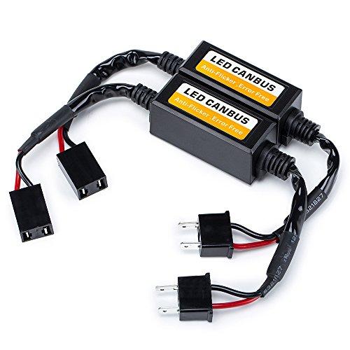 FMS Voiture H7 Ampoule LED Decodeur Resistance de Clignotant LED Erreur Canbus Avertissement Canceller et Anti Scintillement Plug & Play (2 pièces) (LED Canbus-H7)