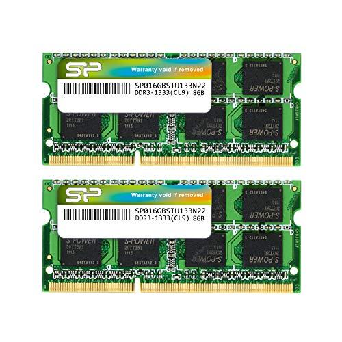 シリコンパワー ノートPC用メモリ 204Pin SO-DIMM DDR3-1333 PC3-10600 8GB×2枚組 永久保証 SP016GBSTU133N22