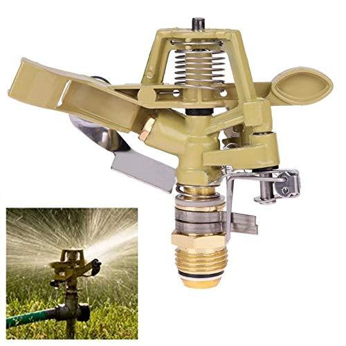 Ln 1/2-Zoll-Garten-Wasser-Sprinkler Sprühdüse Brunnen Bewässerung Stecker Kupfer Drehen Kipphebel Bewässerung Werkzeug Wassersprenkler - Gelb