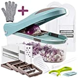 Multiple Vegetable Onion Chopper Mandoline Slicer - Food Cutter, Dicer, Grater, Shredder - No BPA...