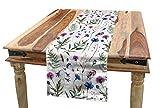 ABAKUHAUS Cardo Camino de Mesa, Flores Silvestres De Verano, Decorativo para el Comedor o Sala de Estar Fácil de Limpiar, 40 x 180 cm, Multicolor