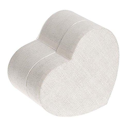 biodégradable – Cœur de condoléances – Blanc crème cendres Urne funéraire pour animal domestique (Animal/Chat/Chien).