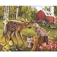 大人のジグソーパズル2000ピースパズル動物猫鹿パズル挑戦ジグソーパズルゲーム