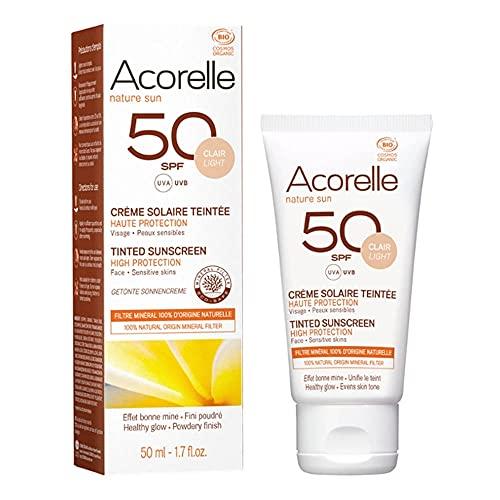 Crème solaire teintée SPF 50 bio teinte Abricot