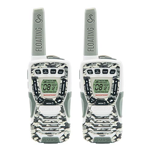 Buy Cobra CXT1095FLTCW Walkie Talkies 37-Mile Two-Way Radios, Rechargeable (Camo White, Pair)