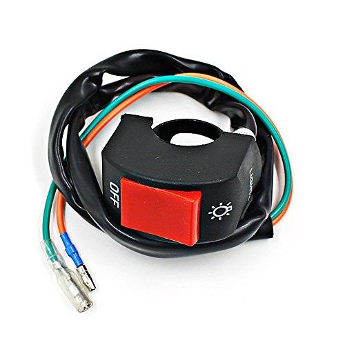 PsmGoods® Motorrad Blitz Warnleuchte Lenker Schalter Blinker Lampenschalter für Motorräder Elektromlatten ATVs Motorroller Schneemobile (Light Switch)