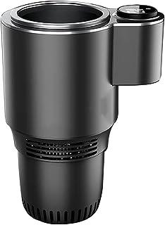 12v Car Cup Cooler, LED Abs Aluminum Alloy Cars Refrigeration Cups, Quick Electric Cooling Cup Smart Travel Mug Temperatur...