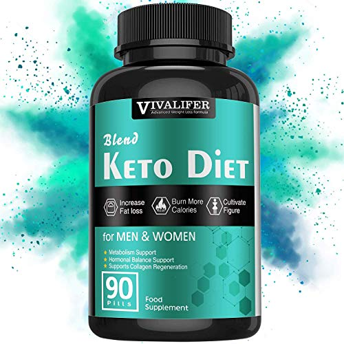 Keto Diet Pills, 90 Pills Fat Burner & Weight Loss Supplement Formula Keto Burn Pills,Women Men Appetite Suppressant ACV Detox Support