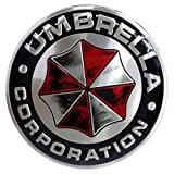 YSpring Resident Evil Car Badge Decal 2.95in Dia Umbrella Corporation 3D Aluminum Alloy Circle Car Motorcycle Emblem Sticker(Style A-1 pcs)