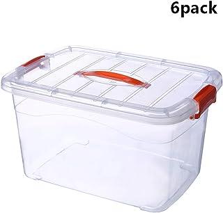 SHENRQIA Boîtes De Rangement en Plastique sans BPA,Boîte De Rangement avec Couvercle Clipsable Et Poignées Ergonomiques, P...