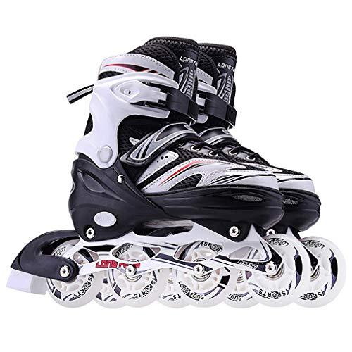 Taoke Inline-Skates for Frauen Männer Kinder-Rollschuhe Anfänger eingestellt Werden Geschwindigkeitsschuhe Rollschuhe 8-12 Jahre alt Skating (Farbe: # 2, Größe: S (31-34)) dongdong