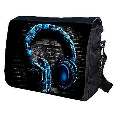 DJ Headphones Music Shoulder Messenger Personalised Bag from