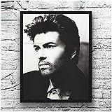 XIANGLL Stern Poster Malerei Kunst Leinwand George Michael
