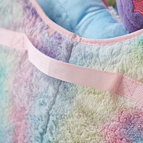"Heritage Kids Sorbet Dream Faux Fur Collapsible Toy Storage Trunk, 28"" W, Tie Dye"