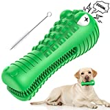 HomeGif Squeaky Dog Chew Toys- Indestructible Natural Rubber Dog Toys with Cleaning Brush for Aggressive Chewers, Large Breed, Dog Teeth Cleaning Toys,Heavy Chewers Dog Toys for Medium Large Dogs