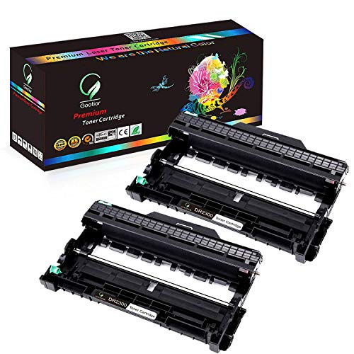 DR2300 Tambor Alta Capacidad Compatible para Brother HL-L2300D L2340DW L2360DN L2365DW DCP-L2500D L2520DW L2540DN MFC L2700DW, 12,000 Páginas, 2 Paquetes