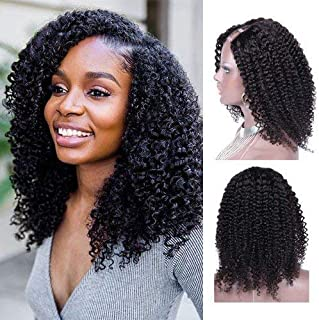 Kinky Curly Indian Hair U Part Wigs Cheap