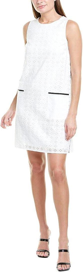Donna サービス Morgan Women's Sleeveless Eyelet Pocket Dress 評判 Shift Front