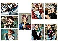 Fanstown KPOP 韓流 BTS 防弾少年団 ポスターセット アルバム写真 A4サイズ 樹脂は膜 8枚セット (F04)