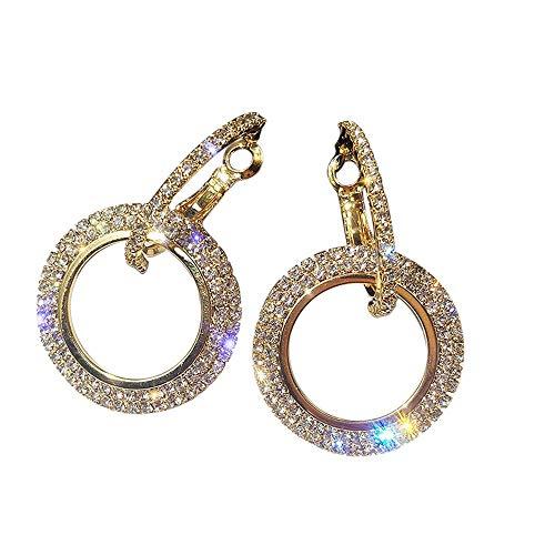 Pendientes De Diamantes Redondos (Oro)