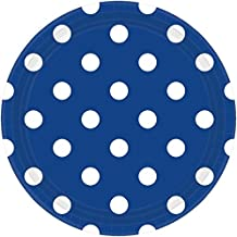 Amscan 551537.105 Tableware Collection, Dots Round Plates Party Supplies, 9