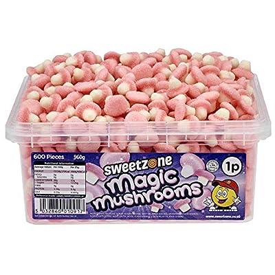 sweetzone magic mushrooms (pink&white) hmc approved halal sweets 960g (600 pieces) Sweetzone Magic Mushrooms, 600 Count, 1.5 kg 51sfZjGVcoL