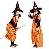 Disfraz de bruja - musaraña - disfraces para niños - halloween - carnaval - hechicera - color morado naranja - niña - talla m - 5/6 años - idea de regalo original