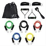EWRWET Banda de Fitness Banda de Resistencia Elastic Fitness Cofre Expander Set Cuerda Goma Deportes Cofre Expander Cinturón Fitness Ejercicio Accesorios