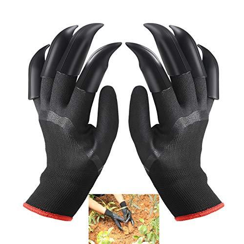 FuXing Gartenhandschuhe, Zuhause Garten Handschuhe Beide Hände mit Klauen Schnell und Einfach zu Graben und Pflanzen Baumschulpflanzen Arbeitshandschuhe, Bestes für Gärtner