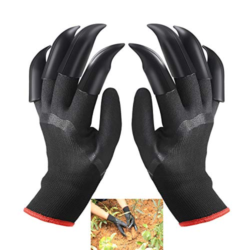 FuXing Garden Gloves with Claws, Home Gardening Genie Gloves Quick & Easy to Dig and Plant Nursery Plants,Best Gift for Gardener