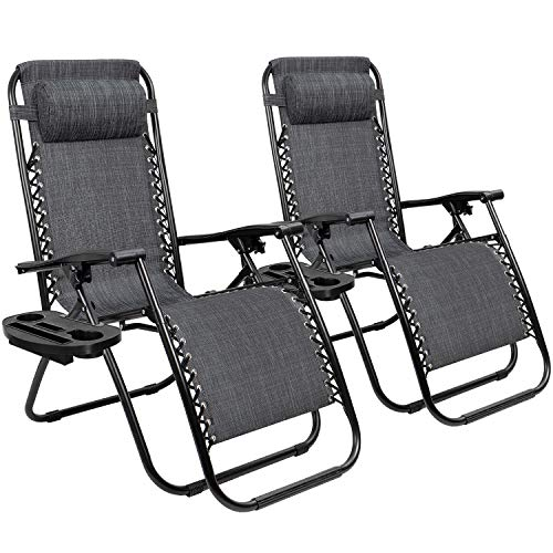 Tuoze Zero Gravity Chairs Adjustable Outdoor Folding Lounge Patio Chairs...