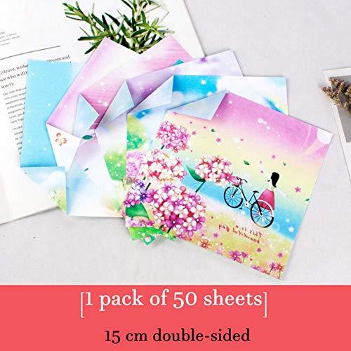 50 stuks Galaxy origami papier vierkant plakboekpapier dubbelzijdig afdrukken Kraft Cardstock geschenkverpakkingsmaterialen 150 mm * 150 mm, 10