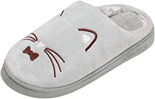 YC electronics Home shoes indoor slippers Warm Cartoon Cat Home Slipper Shoes Men Non-slip Floor Home Slippers Indoor Shoe...