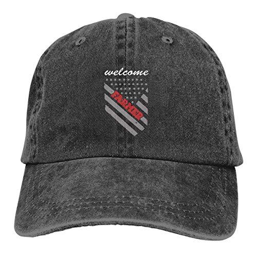 IIFENGLE Gorra de béisbol Retro para Adultos Sombrero de Vaquero Deportivo Sombrero Unisex para Exteriores Sombrero de Camionero Negro Farmer American Flag
