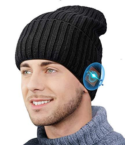 CHEERFUN Geschenke für Männer V5.0+EDR Bluetooth Mütze - Unisex Männer & Frauen Sport Mütze Beanie mit Kopfhörern, Musik Mützen Herren Mützliche Geschenk Weihnachten Mann Mütze Winter