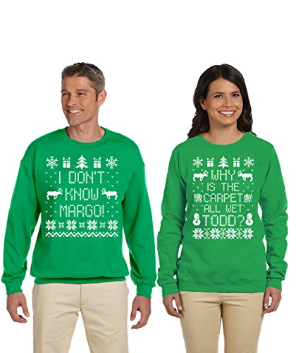 SignatureTshirts Todd and Margo Couples Couples Sweatshirts Ugly Sweater Why is The Carpet All Wet Shirt