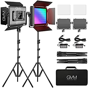 2-Pack GVM 45W Photography Lighting Kit with Bluetooth Control