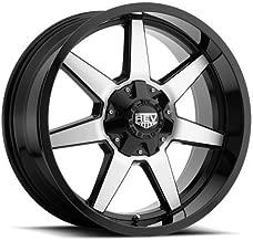 Rev 875MB-7903212 17X9 5X127 / 5X139.7 -12mm Offset Black w/ Machined Wheel