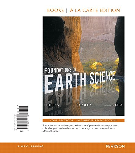 Foundations of Earth Science, Books a la Carte Edition (8th Edition)