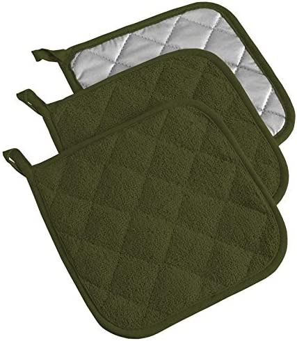 MISC Today's only Potholder - Sage S 3 Green Rapid rise Solid Cotton