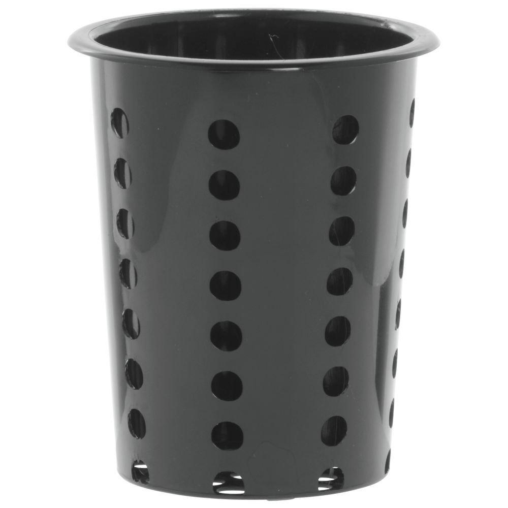 Oakland Mall Hubert Flatware Cylinder Dallas Mall Perforated Black Plastic- 4 5 2