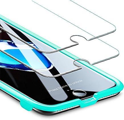 ESR Protector Pantalla para iPhone 7 Plus/8 Plus [2 Piezas][Fácil de Instalar] Cristal Templado 9H Dureza [3D Touch Compatible], Anti-Huella para Apple iPhone 8 Plus/7 Plus/6s Plus/6 Plus