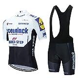 Vêtements Cyclisme Hommes Manches Courtes Maillot Vélo et Coussin 3D Rembourré Shorts Respirant Maillot Cycliste Séchage Rapide Combinaison VTT Homme Ete