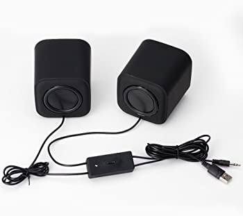 Moloroll Computer Speakers for Desktop PC, Laptop, Mac, USB Powered, Small Wired 2.0 Channels Dual Stereo Clear with ...