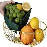 shandianniao Cesta de Frutas Metal Moderno Geométrico Geométrico Tazón extraíble Caja Interna Multifunción Cesta de Frutas, para Frutas Pan de Verduras (Color : B)