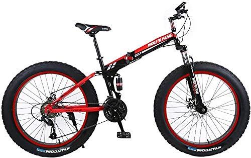 SYCY 26 Pulgadas Freno de Disco de 21 velocidades Ocio Velocidad Variable Bicicleta Neumático Gordo Bicicleta de montaña para Hombres La Moto de Nieve es Ligera y cómoda